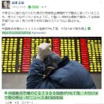 中国株が7%の下落を受けサーキットブレーカーを発動し終日取引停止